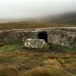 Dwarfie Stane mesolithisch monument, Orkney, 2016