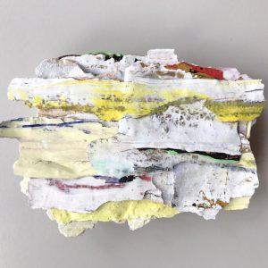 Plaster and Paint, 2018/19 Reliefs van gekleurde schilfers gips. Verschillende maten.