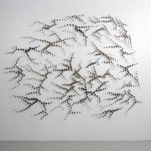 Palimpsest 7, 2007, paardenhaar, textiel, gestikt, 215 x 285 cm