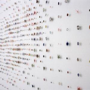 Sampler Dots Large, 2003, paardenhaar, textiel, gestikt, 450 x 1000 cm