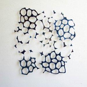 Untitled 2011,paardenhaar, textiel, gestikt, 63 x 52 cm