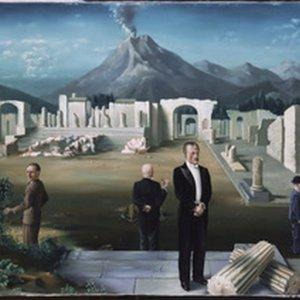 Late bezoekers aan Pompei, 92 x 142 cm. Olieverf op doek
