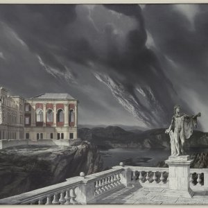 Chateau en Espagne, 1939, 74 x 99 cm Olieverf op Linnen. coll Arnhems Gem.Museum