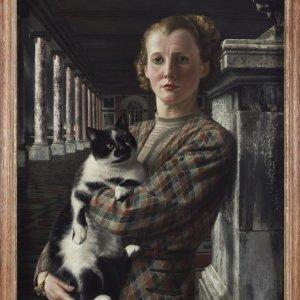 Wilma met kat, 1940 88 x 64 cm. Coll Arnhems Gem.Museum