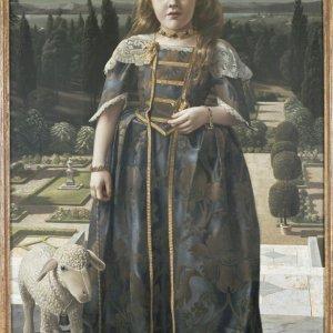Meisje in renaissance kostuum 19446  135 x 85 cm Coll. INGBank