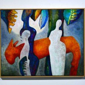 Landleven (2001) Acryl/linnen 80   x 100 cm