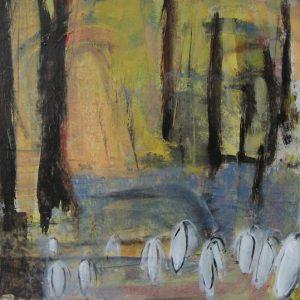 Sneeuwklokjes, 2013, acryl en krijt op papier, 35 X 50