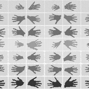 vele handen reaching out 2019 pigmentprints 180 / 150