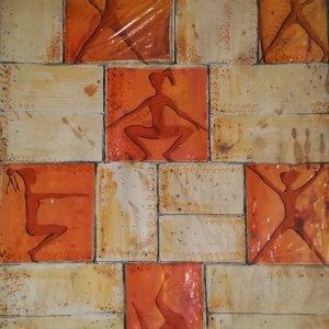 Ontwerp reliefs gymzaal Terwinselen, 1958