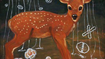 Hert-oil-on-canvas-1.00x1.00-cm-2008
